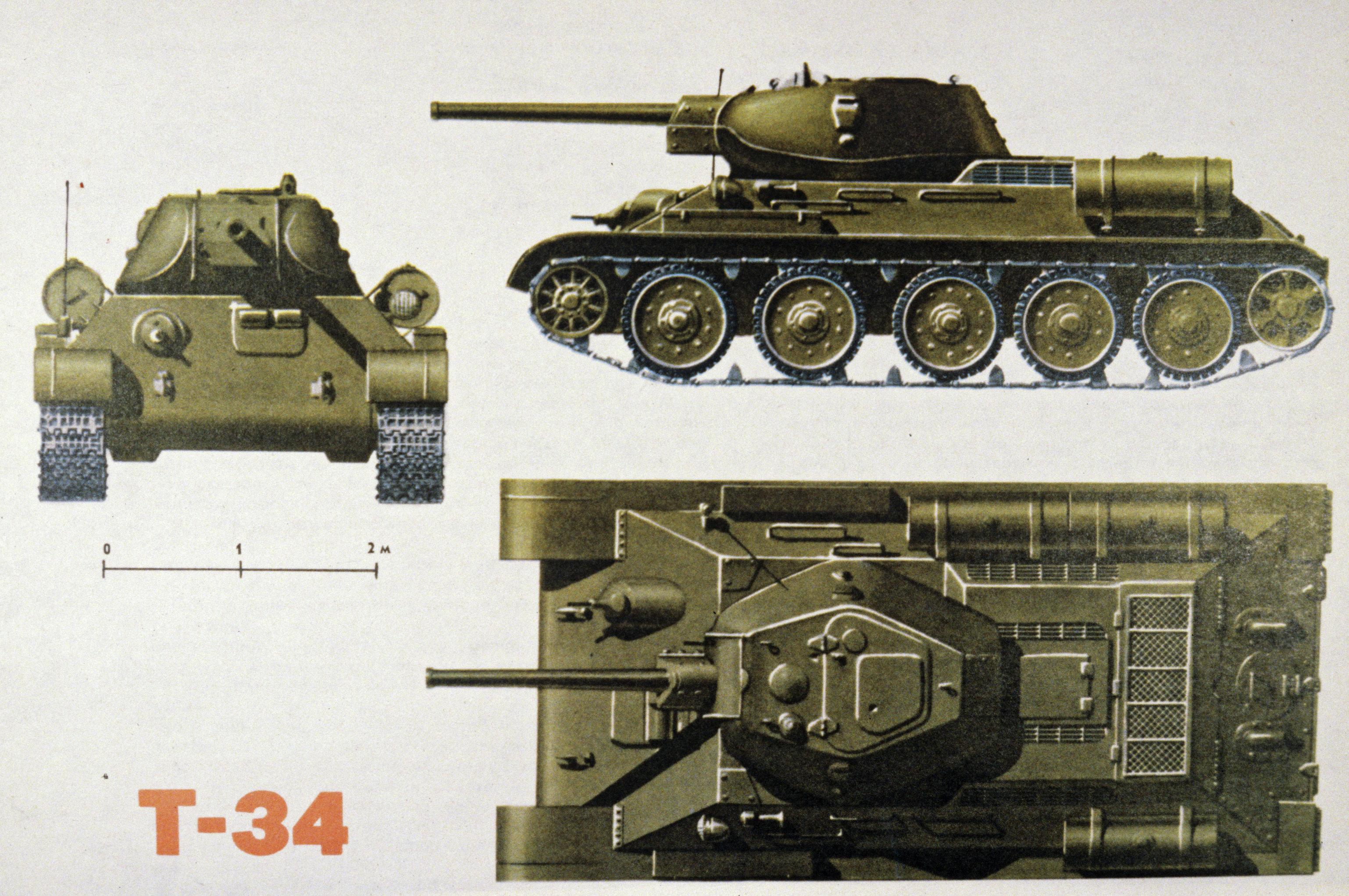 Средний танк Т-34. Репродукция из книги Оружие Победы 1941-1945 гг.