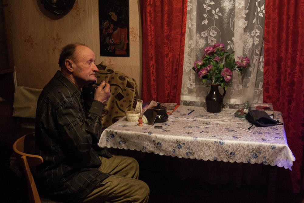 Сігізмунд Бабіч у вёсцы Вараб'і Астравецкага раёна