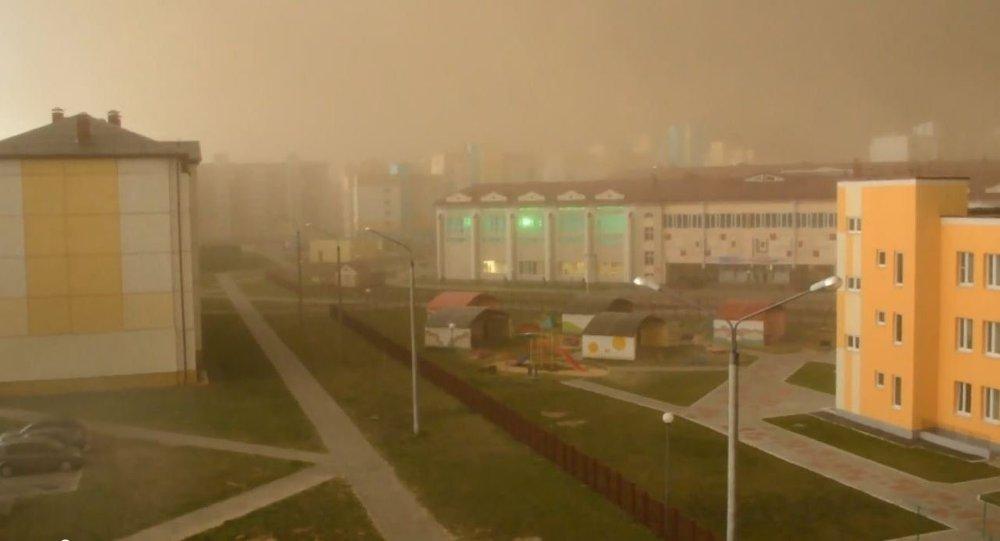 Пясчаная бура ў Салігорску