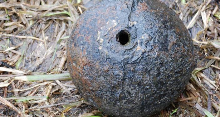 Мортирная бомба, найденная в Ясельде