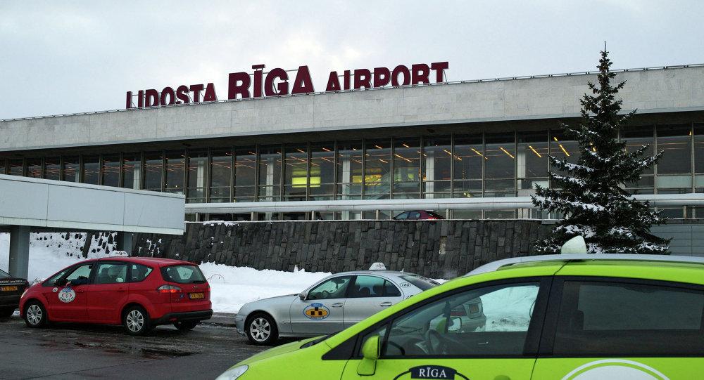 Будынак міжнароднага аэрапорту Рыга, архіўнае фота
