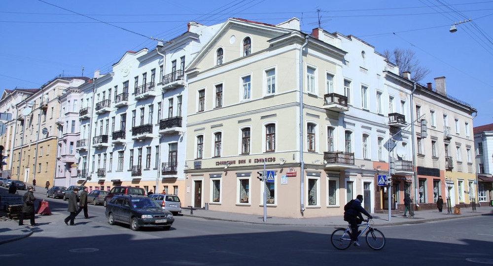 Скрыжаванне вуліц Валадарскага і Карла Марскса ў Мінску