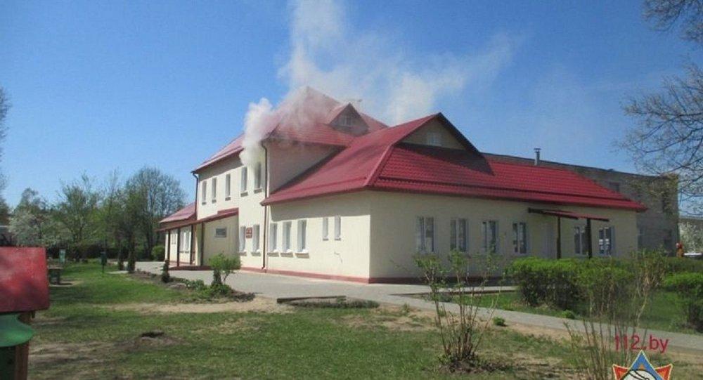 Пажар у магілёўскім дзіцячым садку