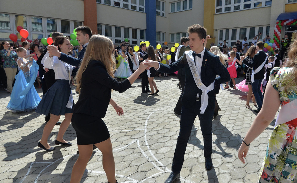 Апошні званок у гімназіі № 12 Мінска