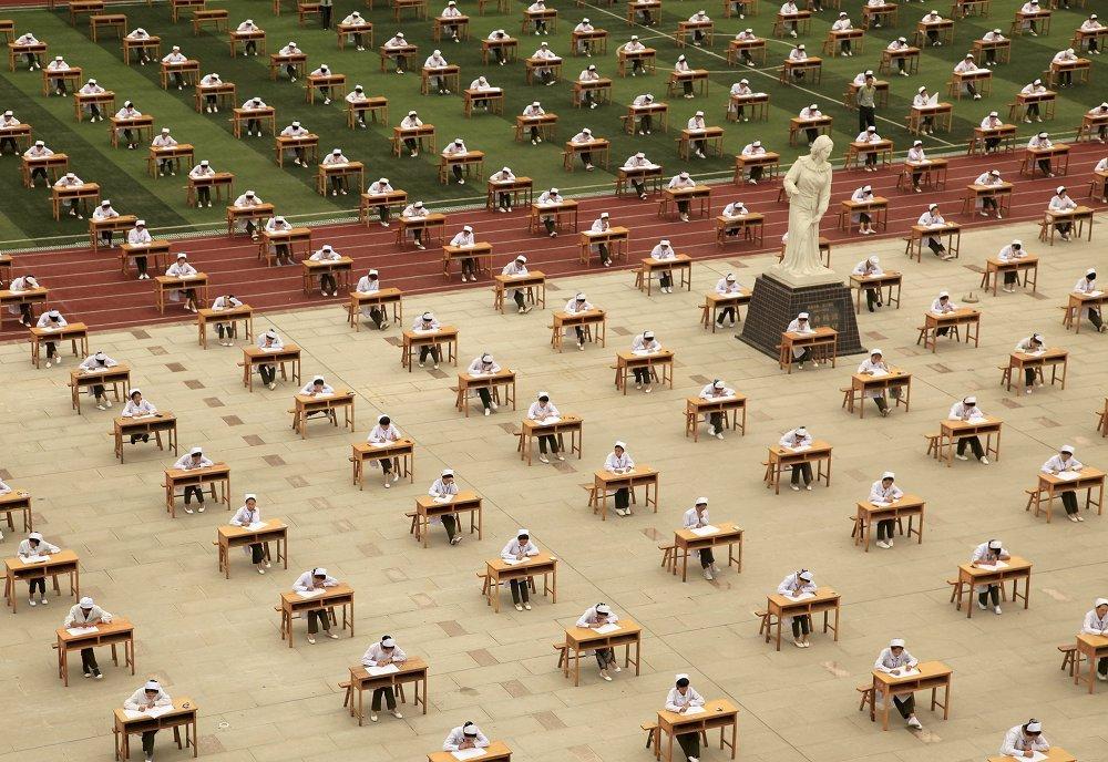 Экзамен на адкрытым паветры ў Кітаі