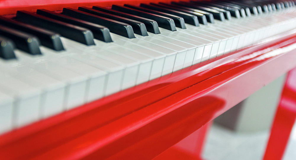 Red Piano at Charles de Gaulle Airport, Paris