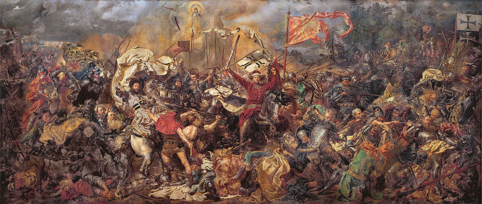 Картина Яна Матейко Грюнвальдская битва