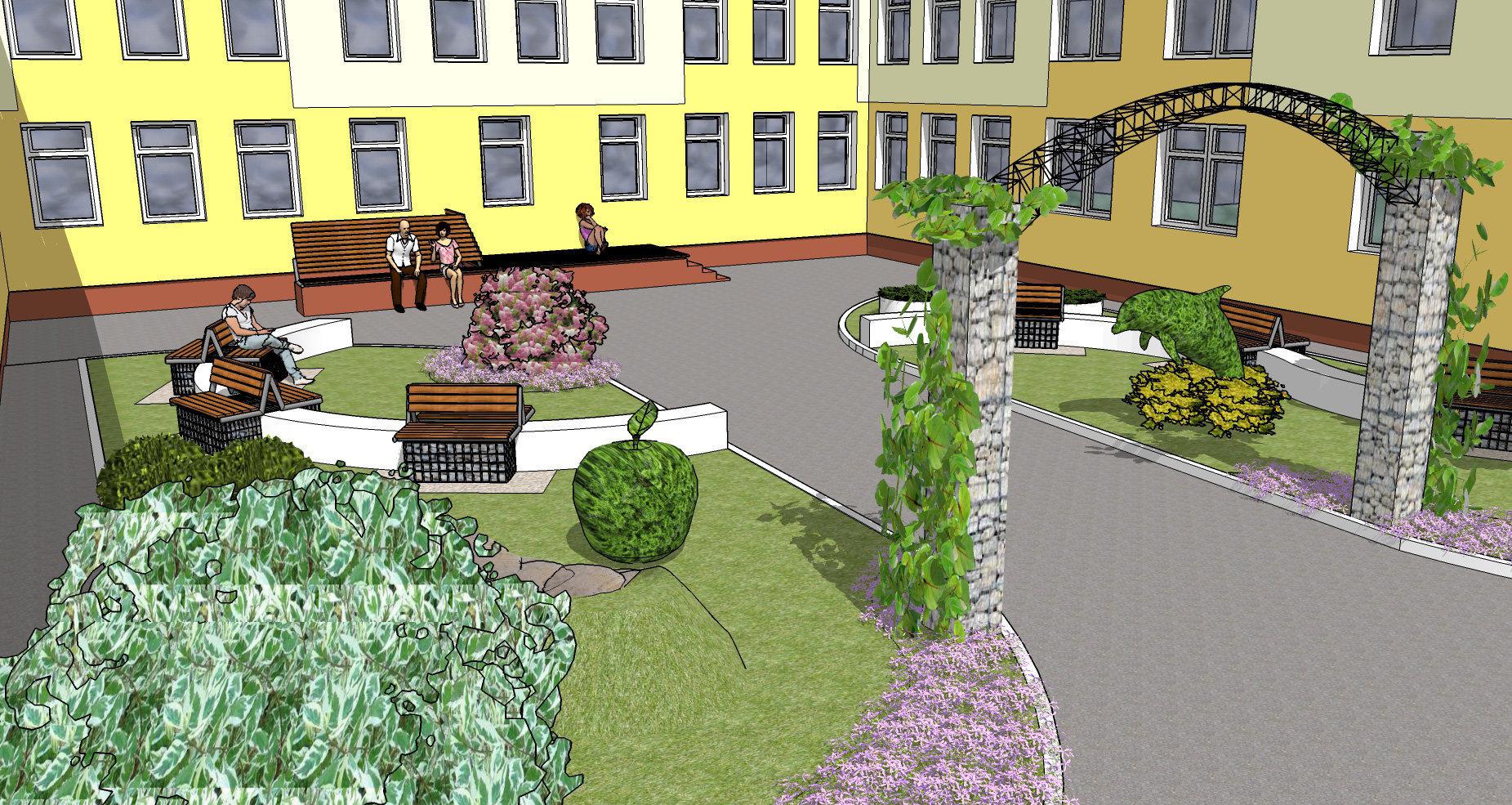 Проект рекреационной зоны на заднем дворе детского дома