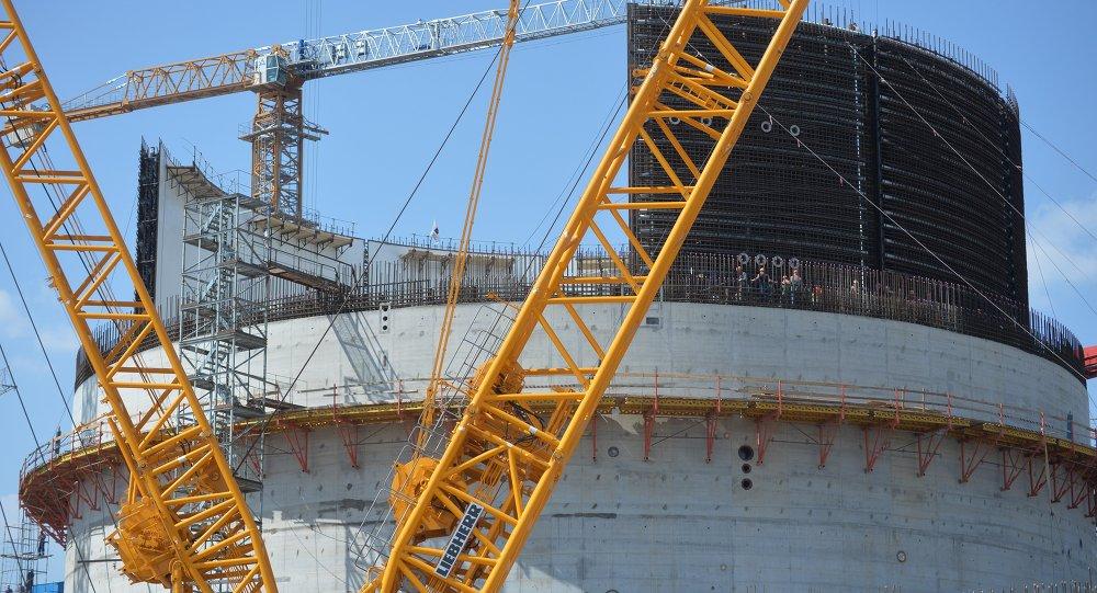 Строительство реакторного блока №1 БелАЭС