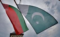 Флаги Беларуси и Пакистана