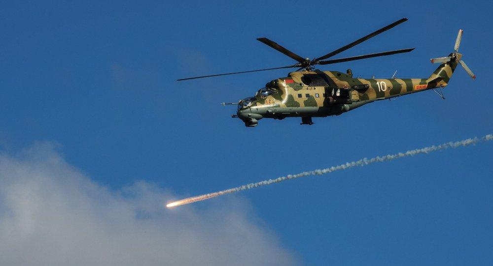 Вертолет Ми-24 авиационной группы Военно-воздушных сил Беларуси, архивное фото
