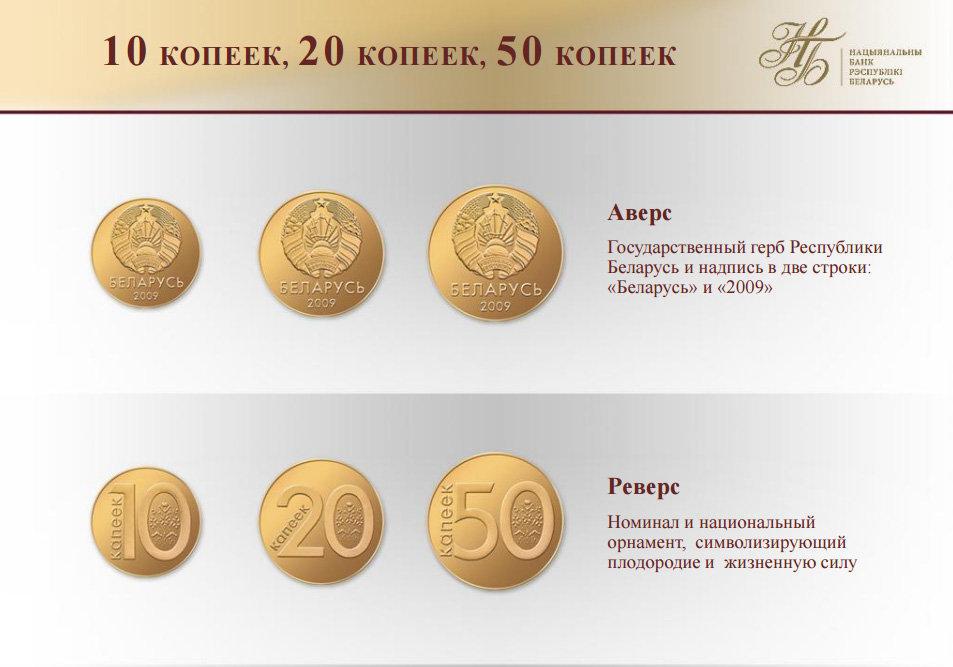 образцы монет рб