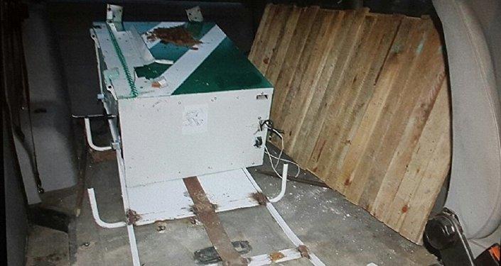 Украденный из мозырской больницы банкомат