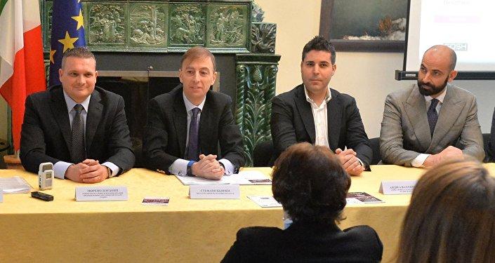 Пресс-конференция в посольстве Италии