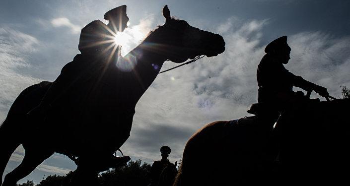 Старт конного похода по маршруту Москва - Берлин