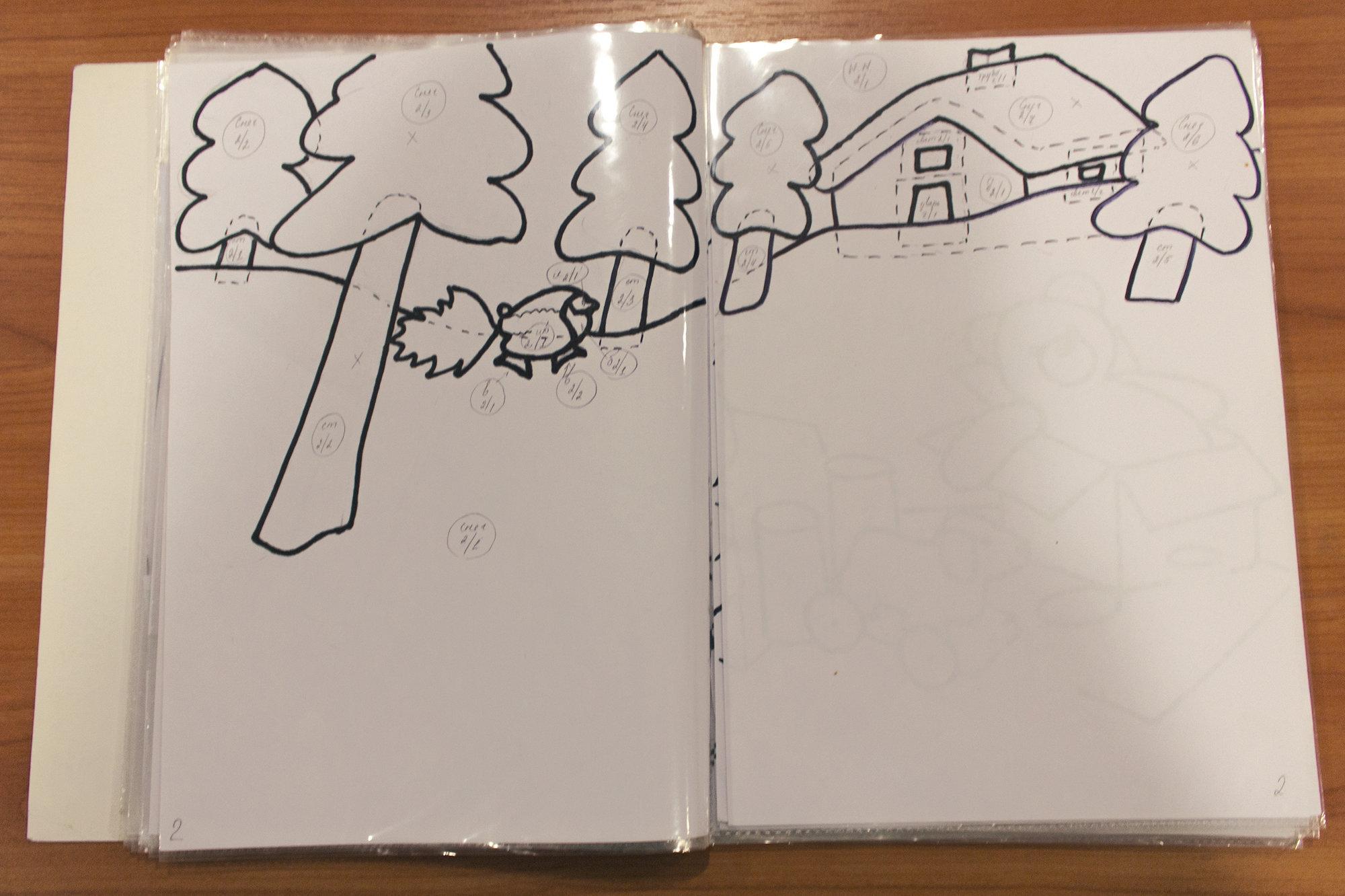 Прорисовка макетов будущей тактильной книги