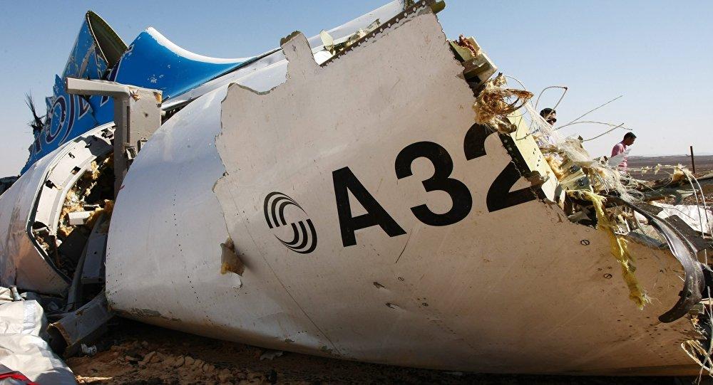 Месца крушэння самалета Airbus A321 у Егіпце