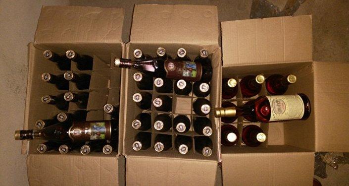 Контрафактный российский алкоголь