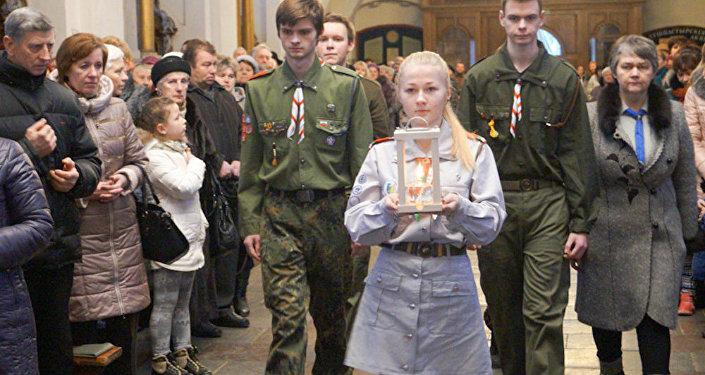 Скауты в Гродненском кафедральном костеле