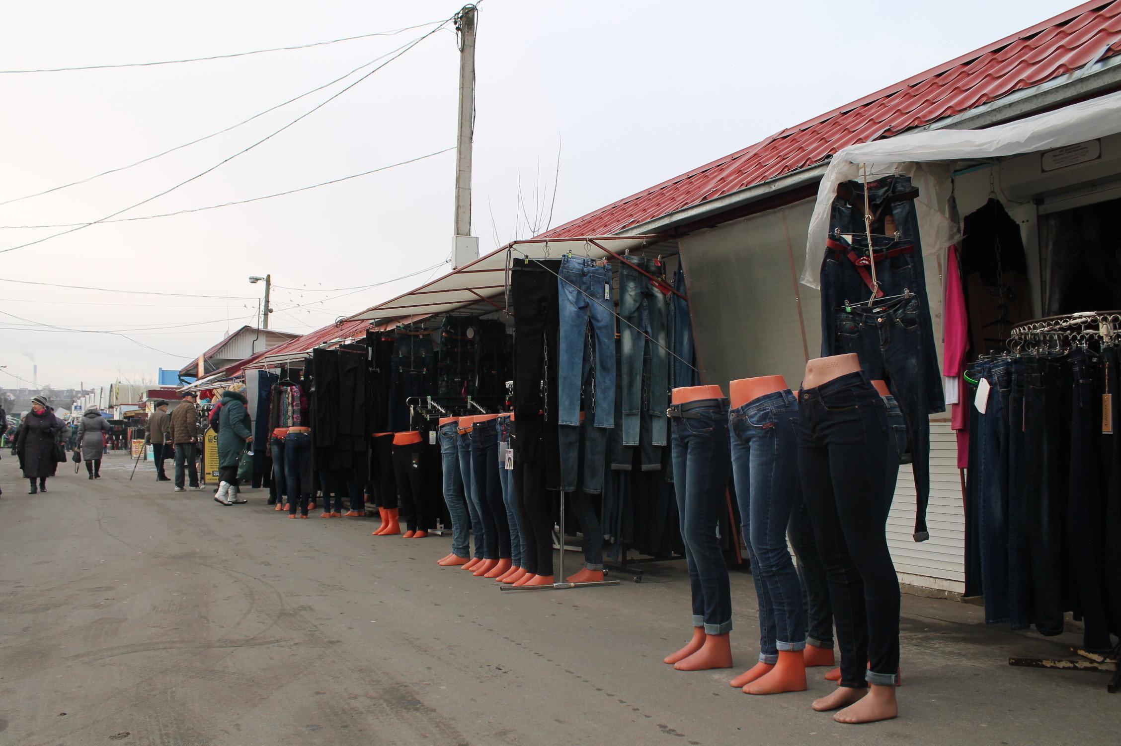 Вещевый рынок в Пинске