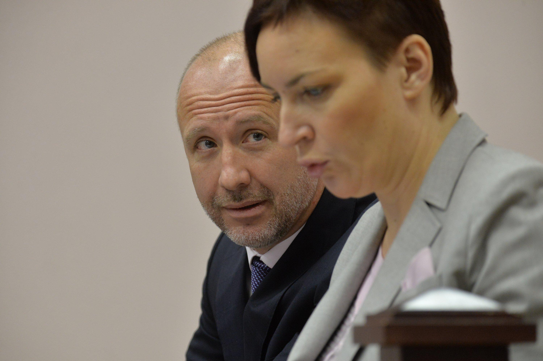 Андрей Геращенко с адвокатом Лущик Евгенией Потаповой