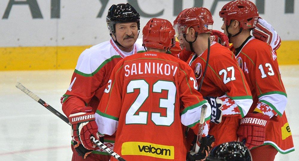 Команда по хоккею президента Беларуси на Рождественском турнире
