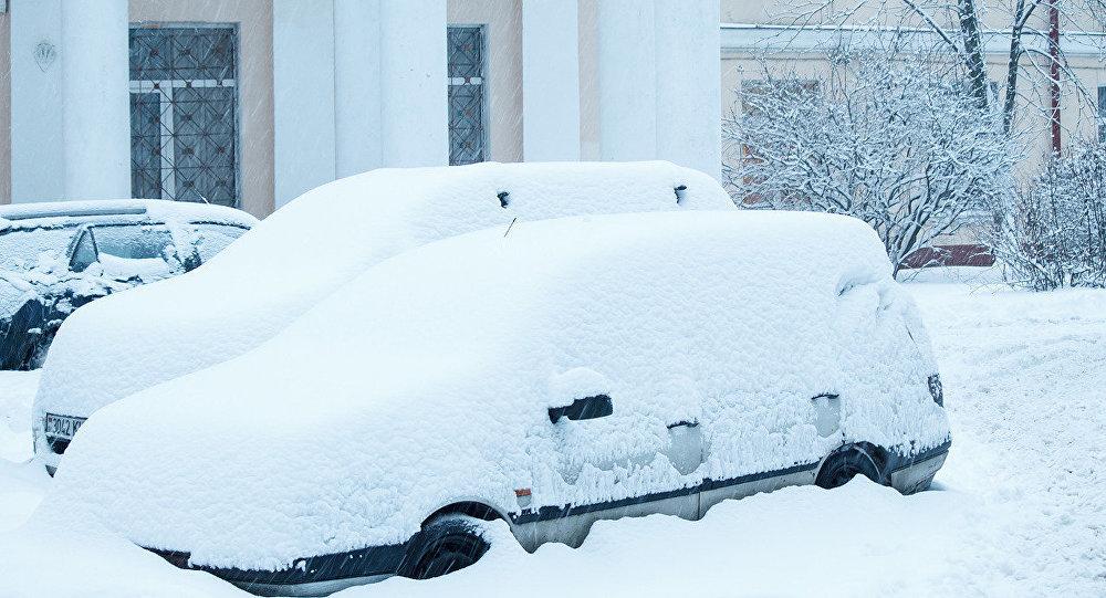 Снегапад у Мінску