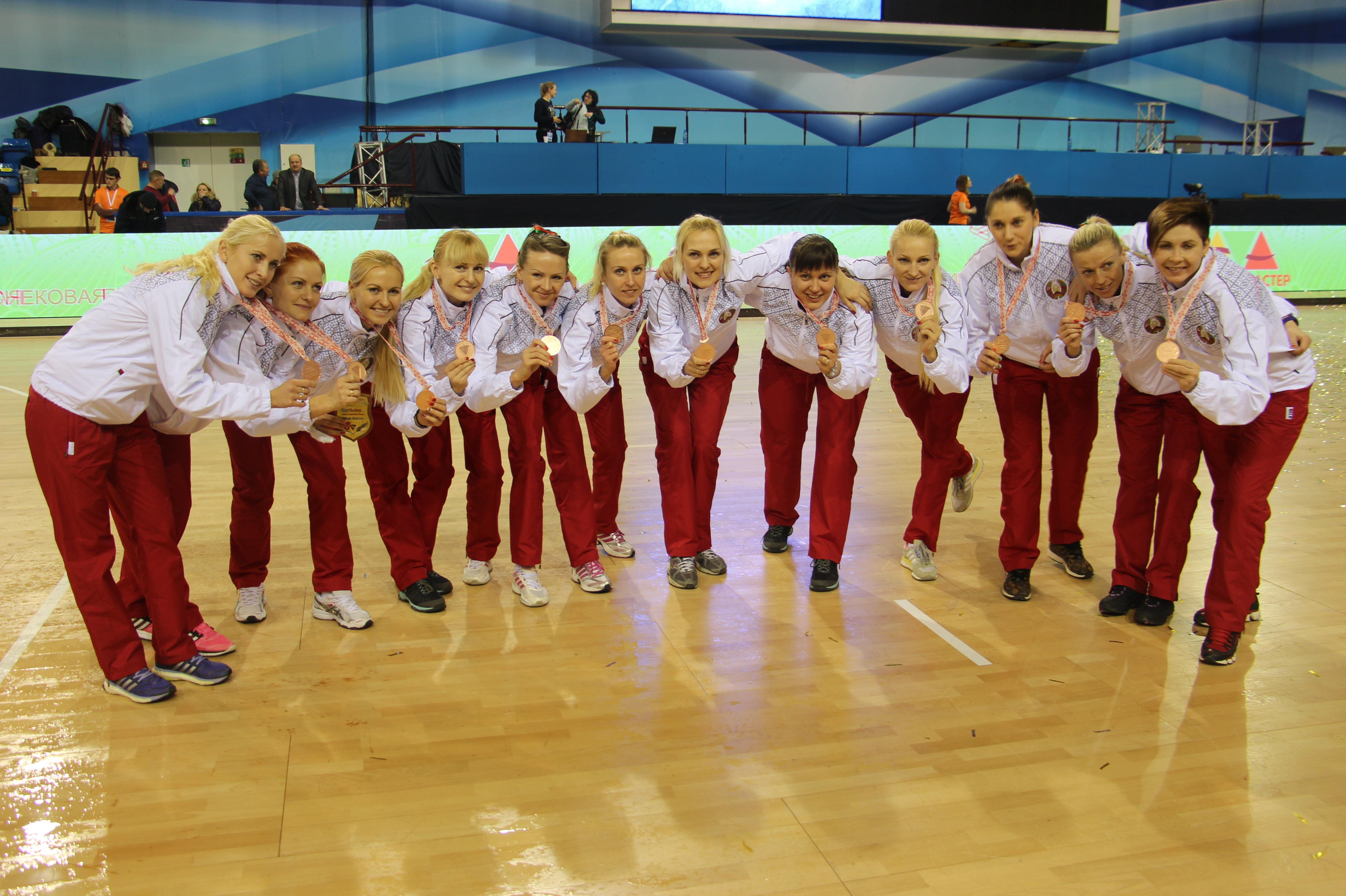Бронзовые призерки чемпионата Европы по индорхоккею - сборная Беларуси