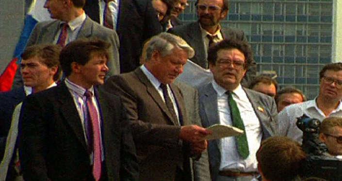 Спутник_Борис Ельцин против ГКЧП. Съемки 1991 года