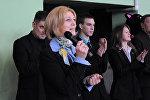 Открытие турнира в Ростове на призы Олимпийской чемпионки Елены Швайбович (в центре)