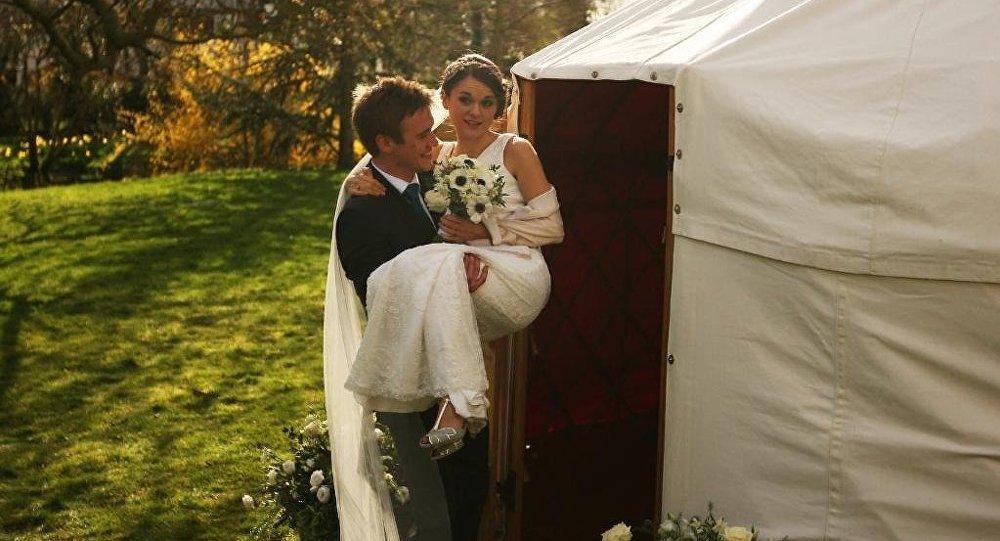 Свадьба в юрте