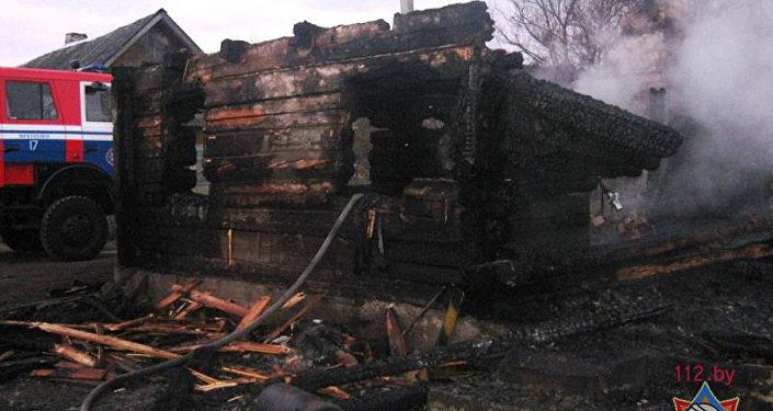 Пожар в деревне Большие Сонтаки