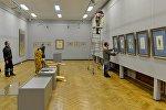 Подготовка к выставке Бакста в Национальном художественном музее