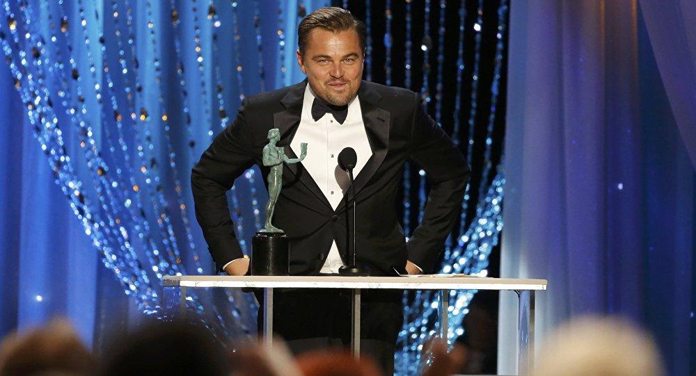 Леонардо Ди Каприо на вручении премий гильдии режиссеров США