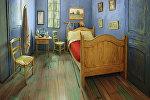 Комната, воссозданная по картине Ван Гога в районе Ривер Норт Чикаго