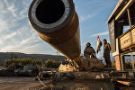 Военнослужащие Сирийской Арабской армии на участке сирийско-турецкой границы в районе города Кесаб