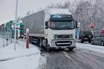 Фуры на белорусско-литовской границе, архивное фото