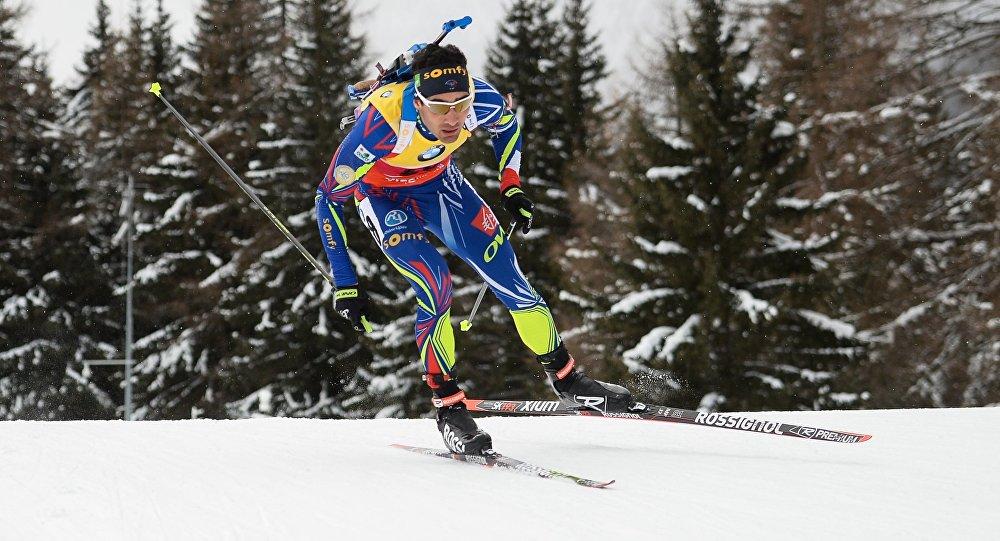 Мартен Фуркад (Франция) на дистанции гонки преследования