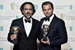 Леонардо ди Каприо и Алехандро Гонсалес Иньярриту на церемонии вручения премии Британской академии кино- и телеискусства (BAFTA)