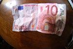 Купюра достоинством 10 евро