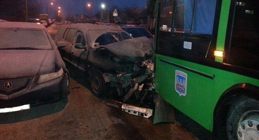 Авария в Заводском районе Минска