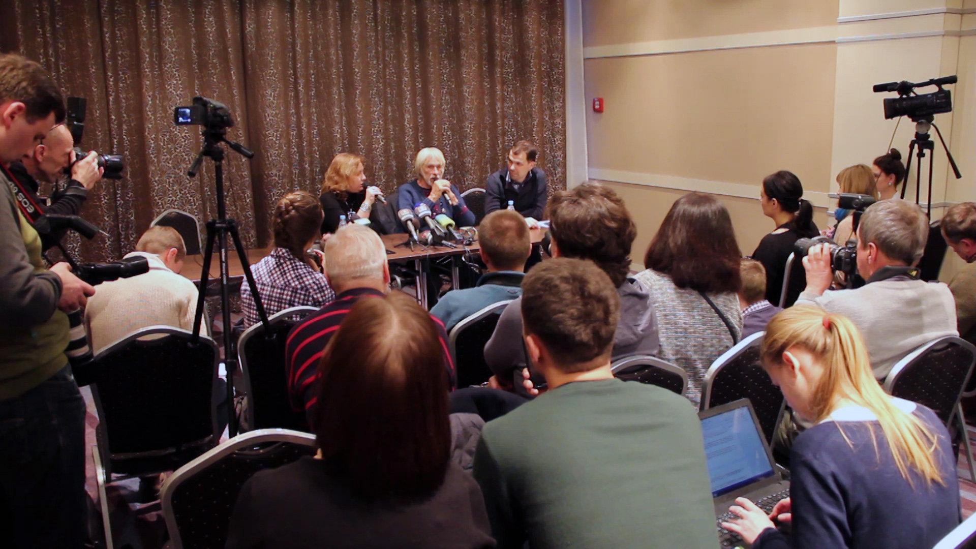 Пресс-конференция Пьера Ришара в Минске
