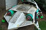 Макет космического корабля, архивное фото