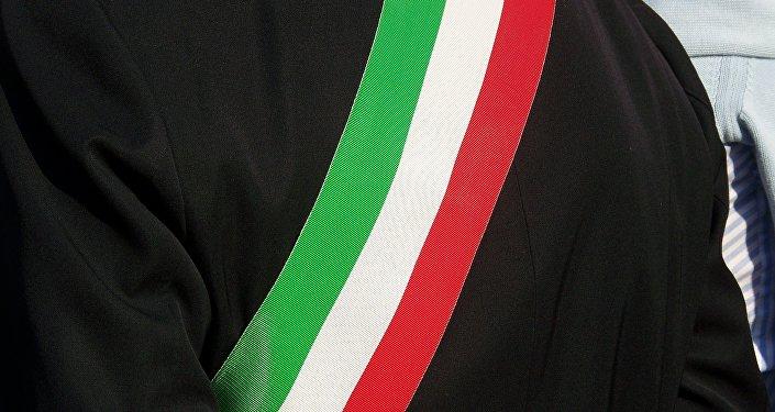 Перевязь с флагом Италии