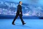 Председатель партии Единая Россия, премьер-министр РФ Д. Медведев