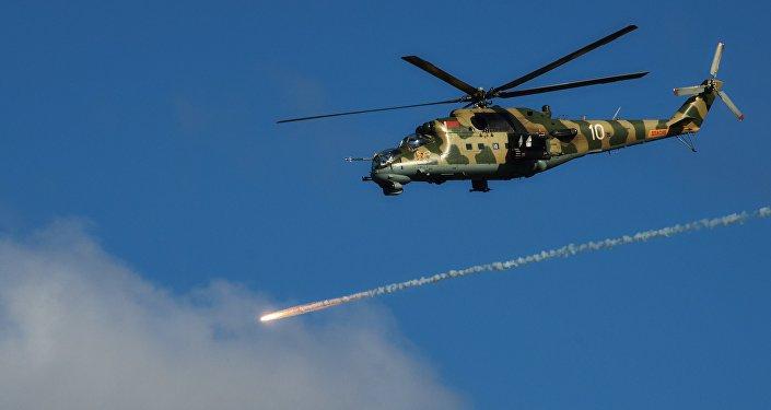 Вертолет Ми-24 авиационной группы Военно-воздушных сил Беларуси