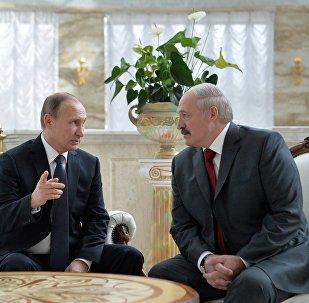 Уладзімір Пуцін і Аляксандр Лукашэнка