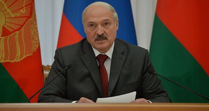 Президент Беларуси Александр Лукашенко на заседании ВГС