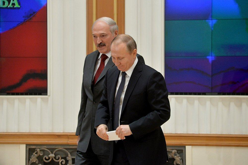 Президенты Путин и Лукашенко