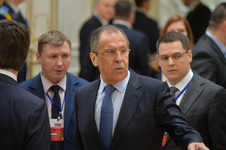 Глава российского МИД Сергей Лавров в Минске